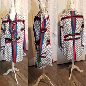 SUPER STYLIZED BUTTON FRONT SHIRT DRESS 2XL
